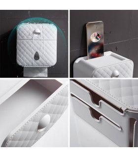 Водоустойчива поставка за тоалетна хартия с рафт и чекмедже - 8