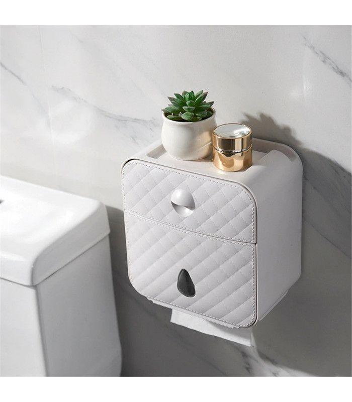 Водоустойчива поставка за тоалетна хартия с рафт и чекмедже - 3