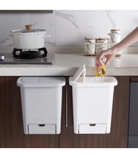 Кошче за отпадъци за кухненски шкаф с капак - 1