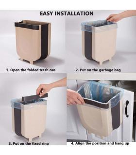 Сгъваемо кошче за боклук за шкаф - 11