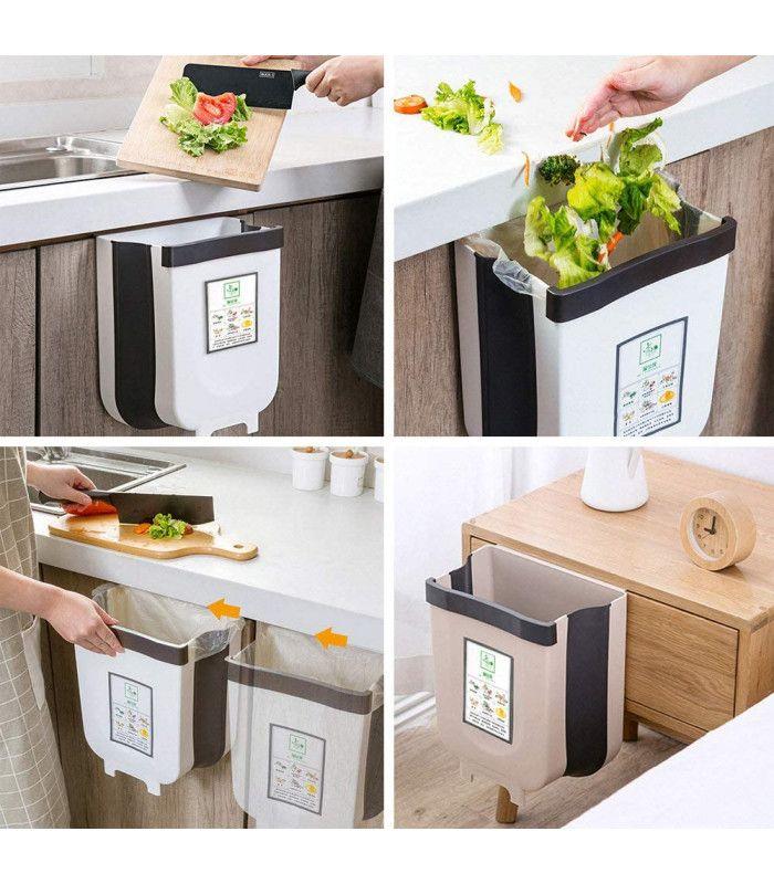 Сгъваемо кошче за боклук за шкаф - 4