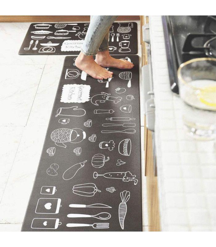 Пътека за кухня от мемори пяна от 2 части - 10