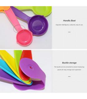 Комплект от 10бр цветни мерителни лъжички - 6