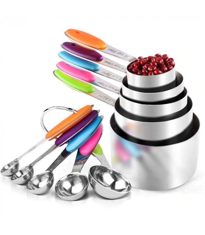 Изцяло метални мерителни лъжички и чашки - 1