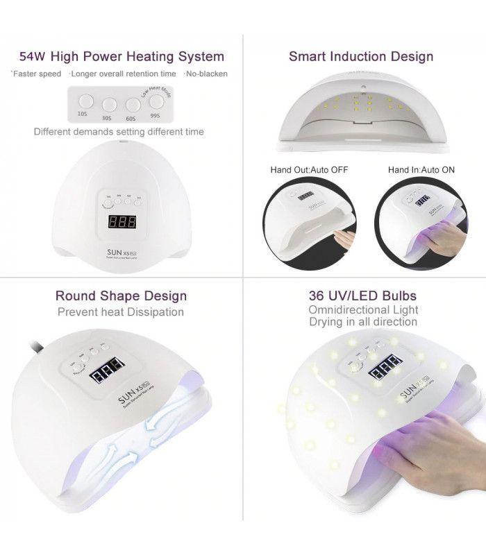 UV лампа за нокти - лампа за маникюр SUN X5 - 12
