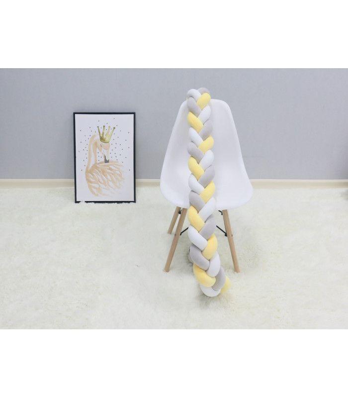 Плетен обиколник за бебешка кошара-количка - 14