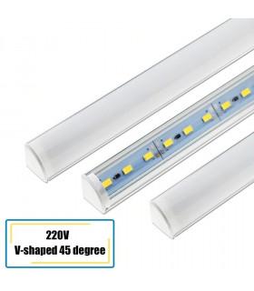 Ъглов алуминиев профил с LED осветление на 220V - 1