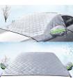 Покривало за предно стъкло на кола против сняг и слънце