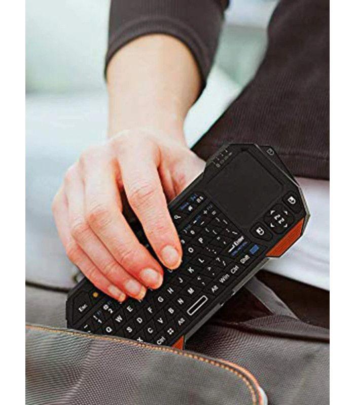 Блутут Wi Fi QWERTY клавиатура с тъчпад за телевизор - 4