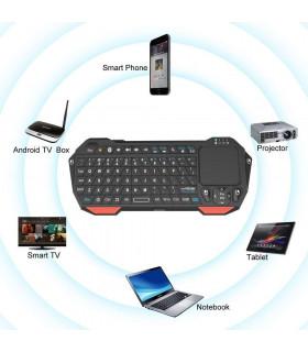 Блутут Wi Fi QWERTY клавиатура с тъчпад за телевизор - 7