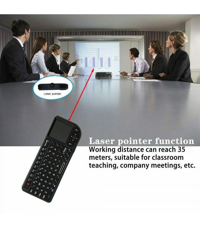 3в1 Wireless клавиатура с лед подсветка + тъчпад + мишка - 3
