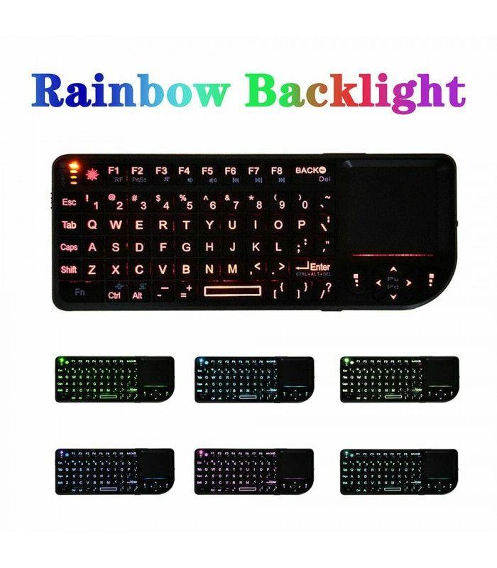 3в1 Wireless клавиатура с лед подсветка + тъчпад + мишка - 2