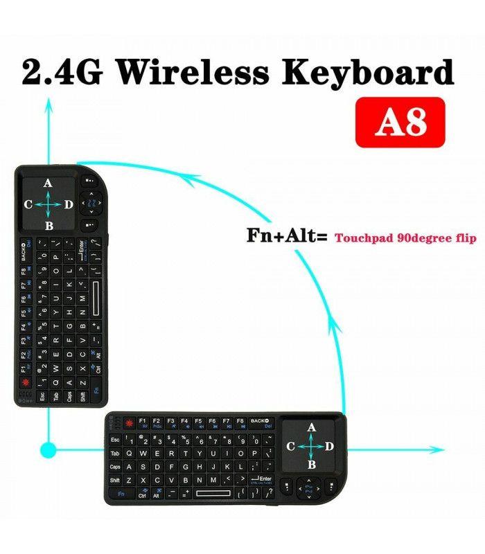3в1 Wireless клавиатура с лед подсветка + тъчпад + мишка - 8