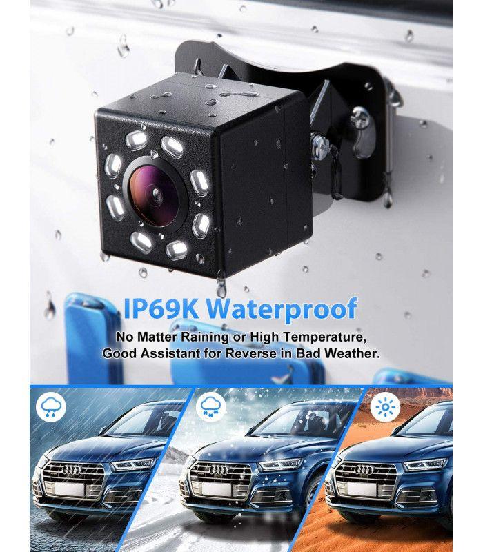 Камера за задно виждане с нощен режим 8 LED - 7