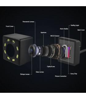 Камера за задно виждане с нощен режим 8 LED - 8
