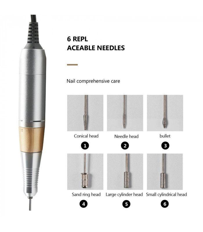 Професионална електрическа пила за нокти с педал - 7