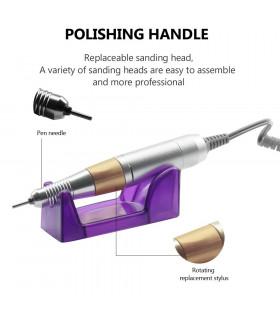 Професионална електрическа пила за нокти с педал - 5