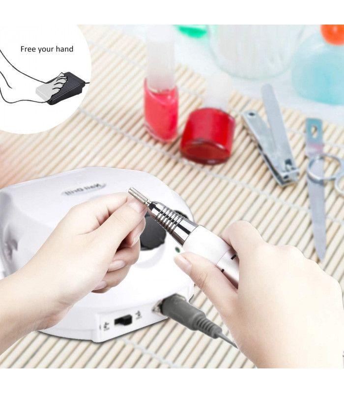 Професионална електрическа пила за нокти с педал - 2