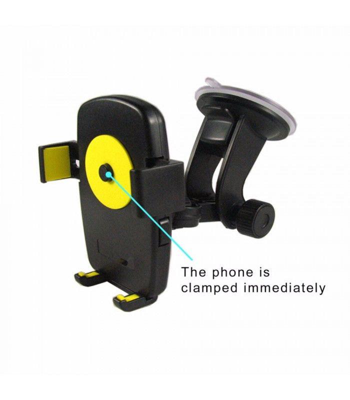 Вакуумна стойка за телефон за кола - 2867 - 5