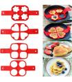 Силиконови форми за яйца - сърце, цвете, кръг