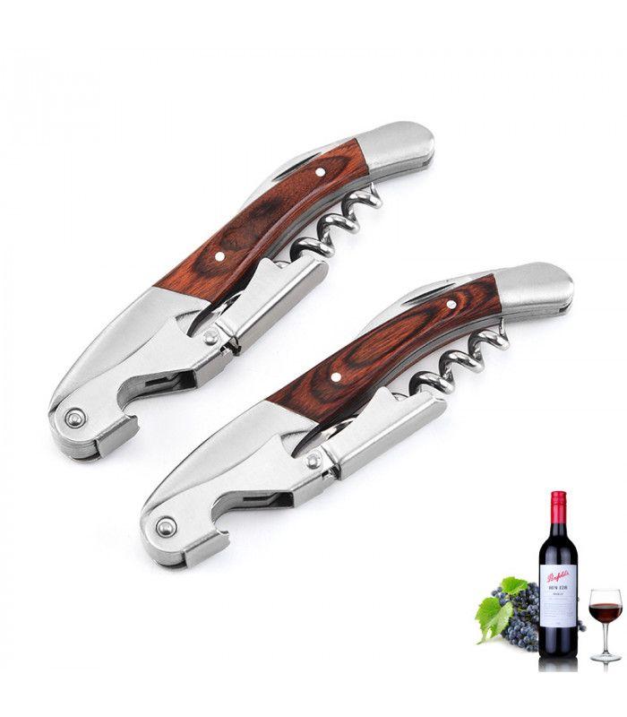 Тирбушон за вино с дървена дръжка - 3
