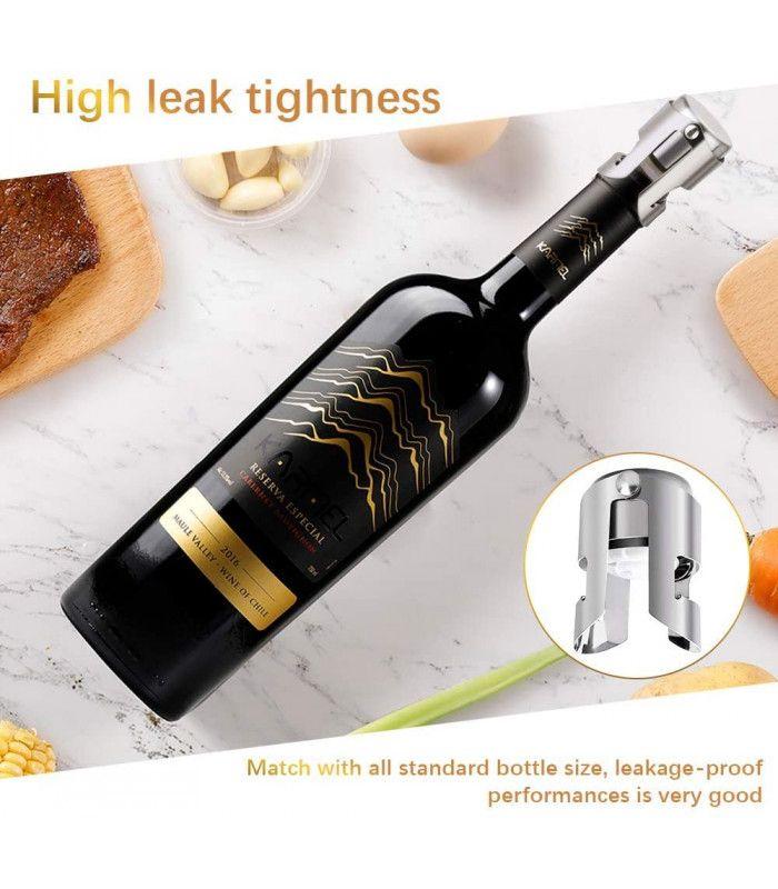 Метална тапа за вино за многократна употреба - 9