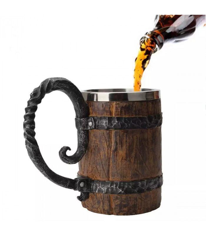 Халба за бира с форма на бъчва - 1