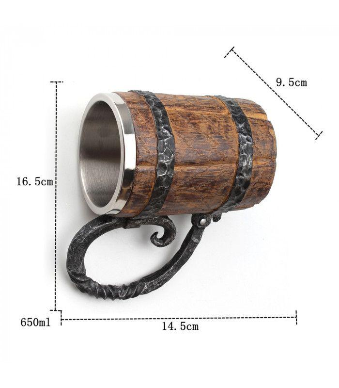 Халба за бира с форма на бъчва - 8