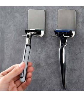 Метална поставка за самобръсначка - самозалепваща се - 1