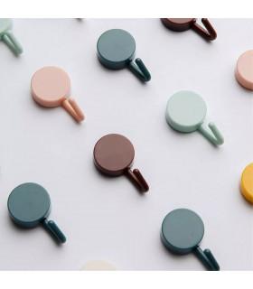 Комплект 10бр. цветни самозалепващи се закачалки - 1