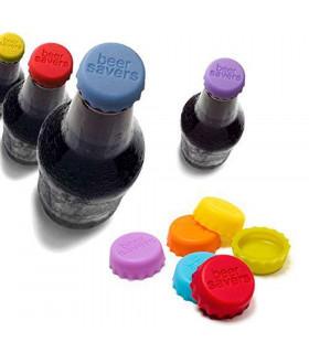 Силиконови капачки за бутилки - 6 броя - 1