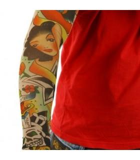 Tattoo ръкав Pin Up Girl Casino Design