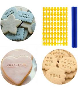 Щампа печат за сладки и бисквитки с цифри и букви - 1