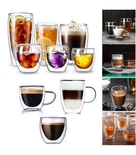 Двустенна стъклена чаша за кафе - 1