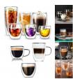 Двустенна стъклена чаша за кафе
