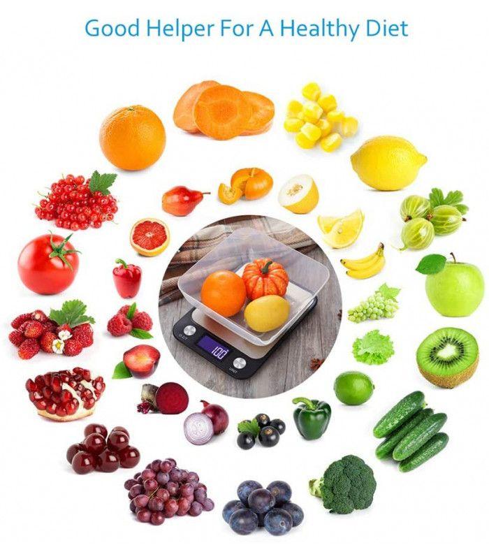 Кухненска везна с електронен дисплей до 5 кг - 7
