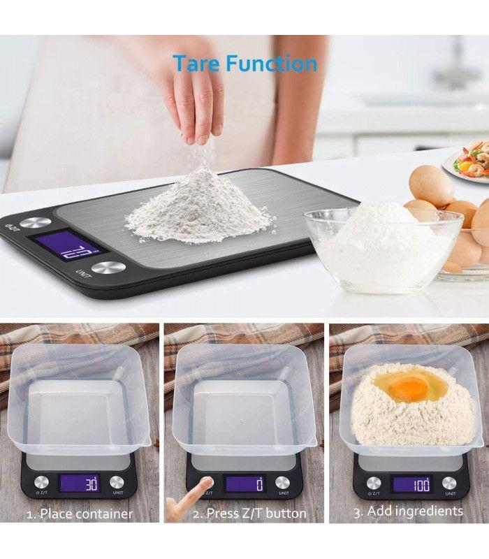 Кухненска везна с електронен дисплей до 5 кг - 2