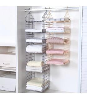 Органайзер за дрехи с рафтове за гардероб - сгъваем - 1
