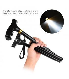 Регулируем бастун със стабилна основа и фенерче - 7