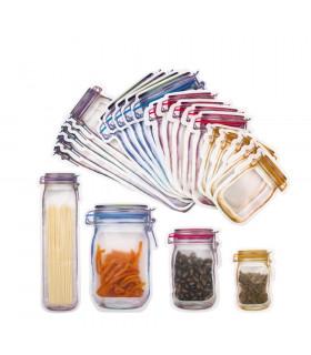Комплект 10бр. торбички за съхранение на храна с форма на бурканчета - 1
