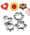 12 броя метални формички за сладки