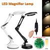 Настолна лампа светеща в 3 цвята с дълго рамо и лупа 8X