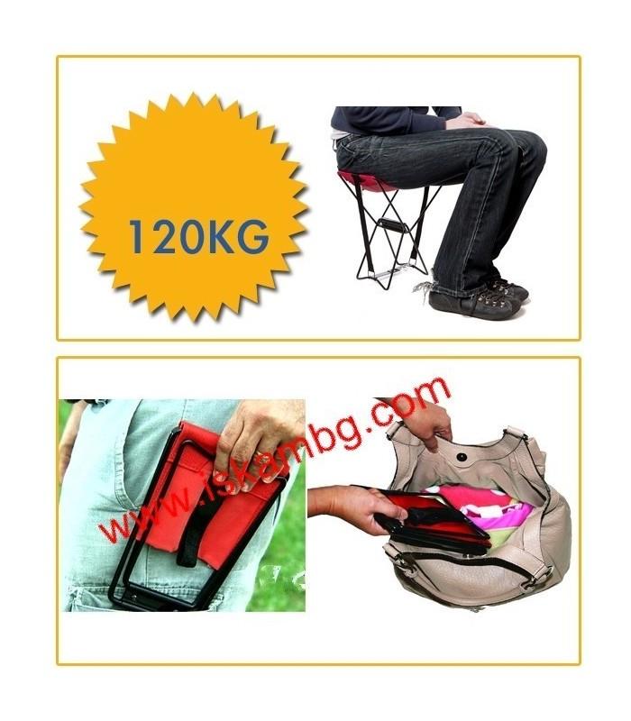 Джобен стол Pocket Chair за риболов, за плажа, за пикник - 8
