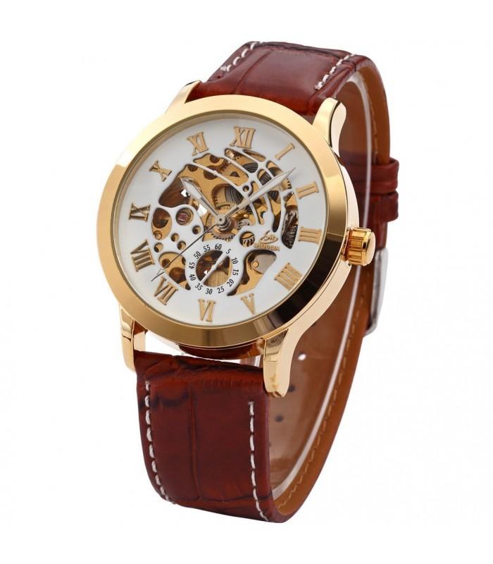 Часовник скелетон Gold Case с видим механизъм - 8