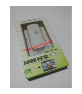 Външна мобилна акумулаторна батерия 5600 mah + фенерче - 1