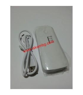 Външна мобилна акумулаторна батерия 5600 mah + фенерче - 2