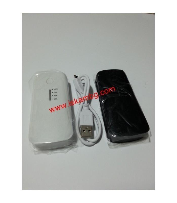 Външна мобилна акумулаторна батерия 5600 mah + фенерче - 4