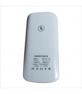 Външна мобилна акумулаторна батерия 5600 mah + фенерче