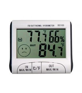 Термометър външна и вътрешна температура + хидрометър