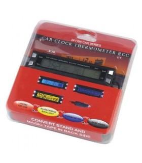 Часовник за кола с термометър и волтметър